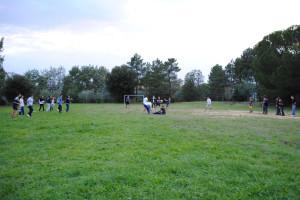 campo dal calcio abitato